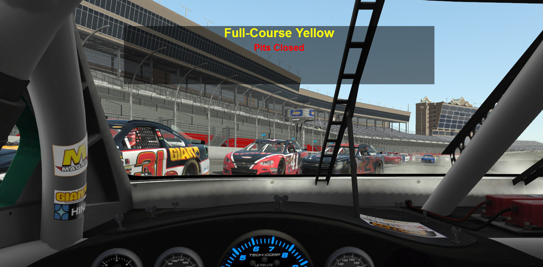 Stock Car Full Course Yellow