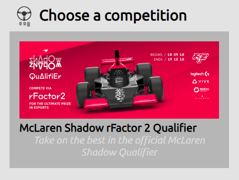 McLaren Shadow Project - World's Fastest Gamer Sim Drivers
